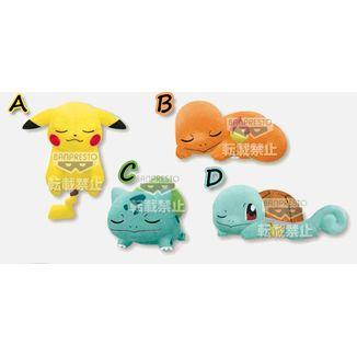 Peluche Pikachu Charmander Bulbasaur y Squirtle Kutsurugi Time Pokemon