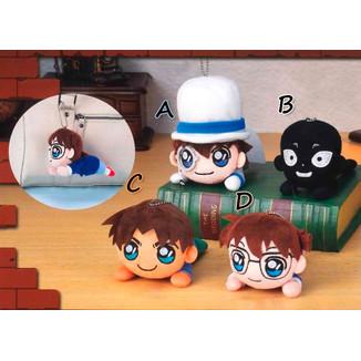 Peluche Detective Conan - Magic Kaito, Man in Black, Heiji Hattori, Conan - Nesoberi 12cm