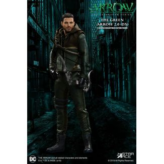 Figura Green Arrow 2.0 Deluxe Version Green Arrow Real Master Series