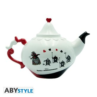Alice in Wonderland Disney Queen of Hearts Teapot and Plate