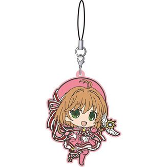 Keychain Sakura red ribbons dress Card Captor Sakura Clear Card