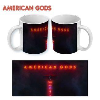 Taza American Gods - Logo