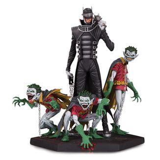 Estatua Batman Who Laughs & Robin Minions Deluxe Dark Nights Metal DC Comics