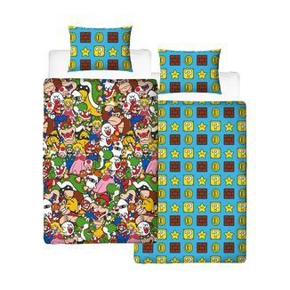 Super Mario Gang Reversible Duvet Cover Set Nintendo