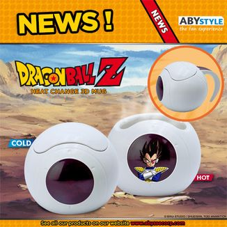 Taza Térmica 3D Space Pod Vegeta Dragon Ball