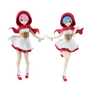 Figuras Rem y Ram Red Hood Set Re:Zero