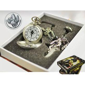 Pocket Watch + Fullmetal Alchemist Necklace and Ring Set #02