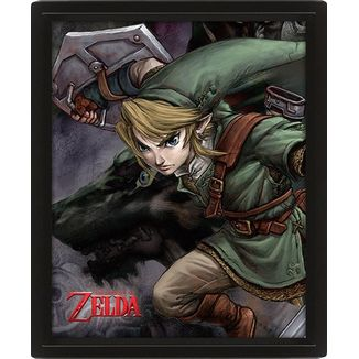 Póster Enmarcado Efecto 3D Link The Legend Of Zelda Twilight Princess