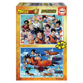 Puzzle 2x100 piezas Dragon Ball Super
