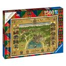 Map Hogwarts Puzzle 1500 Pieces Harry Potter