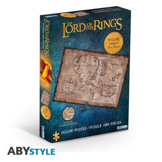 Middle Earth Map Puzzle The Lord Of The Rings 1000 Pieces