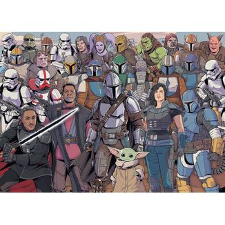 Star Wars The Mandalorian Group Puzzle 1000 Pieces Challenge