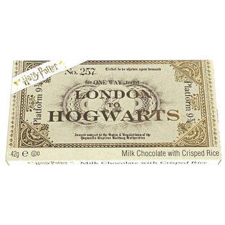 Chocolatina Ticket Hogwarts Express Harry Potter