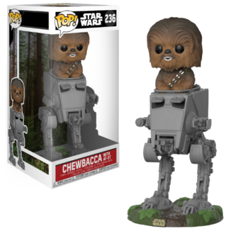 Figura Star Wars  Chewbacca em AT-ST  - POP!