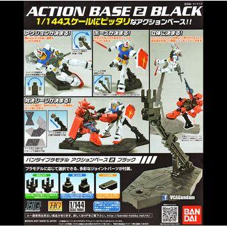 Base soporte Clear Sparkle Negra