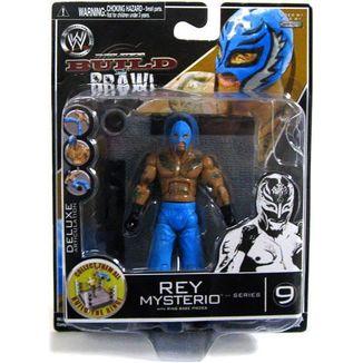 Figura WWE wrestling - Rey misterio - Build n' brawl series 9