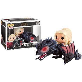 Figura Juego de Tronos Daenerys y Drogon Funko POP!