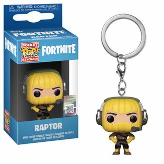 Raptor Keychain Fortnite POP!