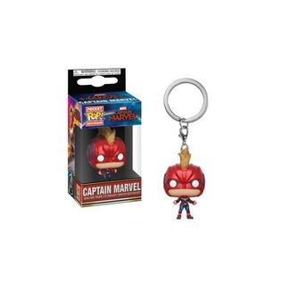 Captain Marvel (with helmet) Keychain Marvel Comics POP!