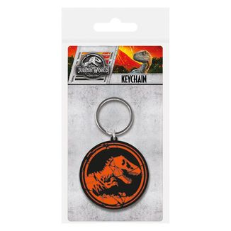 Jurassic World Fallen Kingdom Rubber Keychain Logo