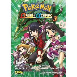 Pokémon Omega Rubí Alfa Zafiro #03 Manga Oficial Norma Editorial