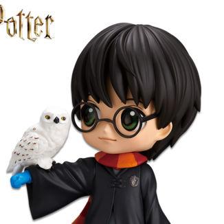 Figura Harry Potter & Hedwig Harry Potter Q Posket