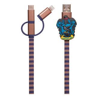 Cable de Carga Ravenclaw Bufanda Harry Potter 3in1