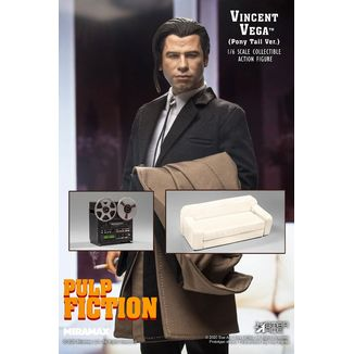 Figura Vincent Vega 2.0 Pony Tail Deluxe Version Pulp Fiction My Favourite Movie