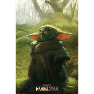 Poster The Child Art Star Wars The Mandalorian 91,5 x 61 cms