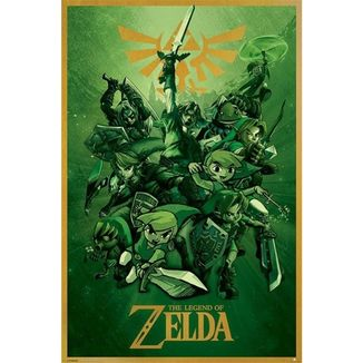 Poster The Legend of Zelda Verde 91,5 x 61 cms