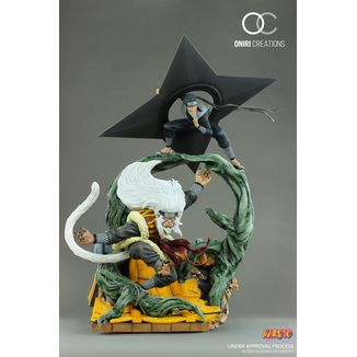 Sandaime Hokage Statue - The Last Fight - Naruto