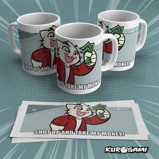 Kuroneko Take My Money Mug Kurogami
