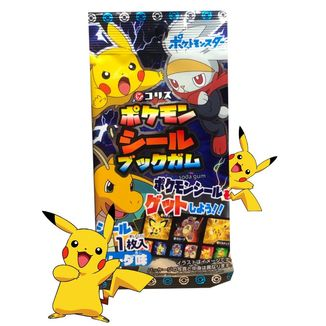 Chicle Pokemon con Pegatina Sabor Cola