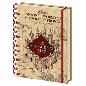 Notebook Map of the Marauder Harry Potter
