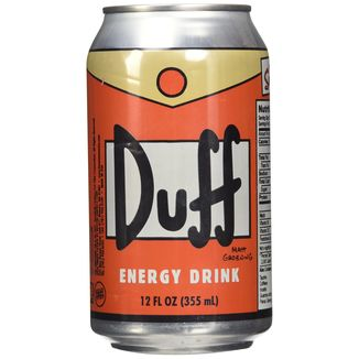 Duff Bebida energética Los Simpson