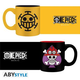 Set mini mugs One Piece Ace & Trafalgar emblems