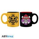 Set mini mugs One Piece Ace & Trafalgar emblems