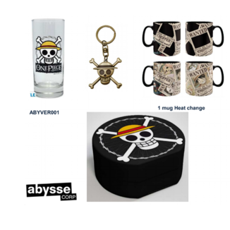 Llavero 3D, Taza y Vaso One Piece Pack regalo