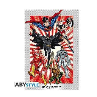 Poster  Liga de la Justicia DC Comics 91.5 x 61 cms