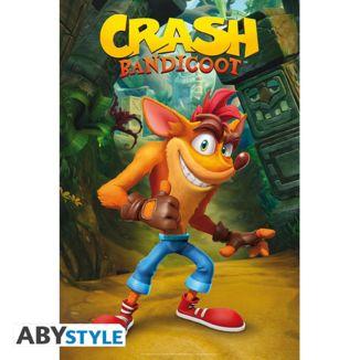 Poster Crash Clasico Crash Bandicoot  91.5 x 61 cms