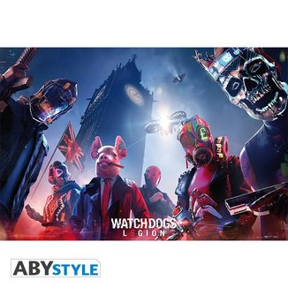 Poster Legion Watch Dogs 91.5 x 61 cms