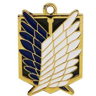 Colgante dorado Emblema Legión de Reconocimiento Ataque a los Titanes