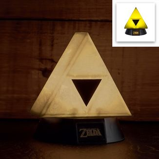 Lámpara 3D Trifuerza Dorada The Legend Of Zelda
