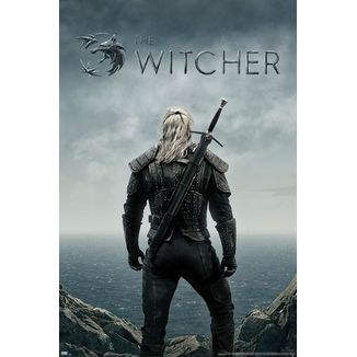Poster Geralt back The Witcher 91 x 61 cms