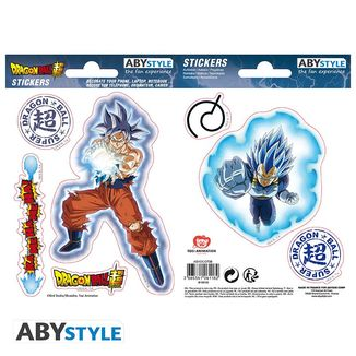 Goku & Vegeta Stickers Dragon Ball Super 16 x 11 cm
