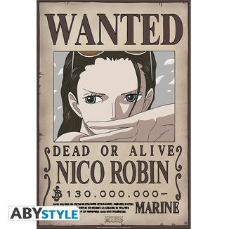 Poster Nico Robin Wanted One Piece 52 x 35 cms