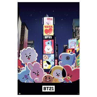 Poster Times Square BT21 BTS 91.5 x 61 cms