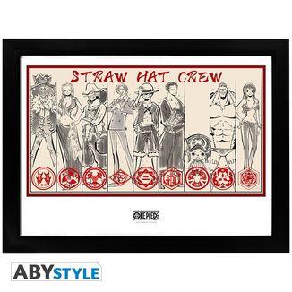 Poster Enmarcado Piratas de Sombrero de Paja One Piece