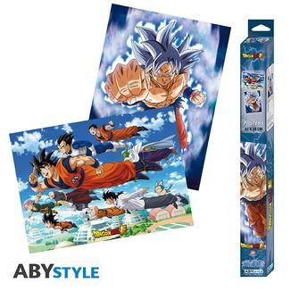 Poster Goku Ultra Instinto Dragon Ball Super Set 52 x 38 cms