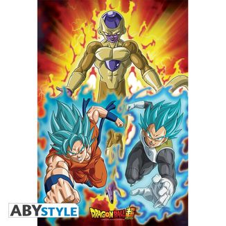 Poster Golden Freezer Dragon Ball Super 91.5 x 61 cm